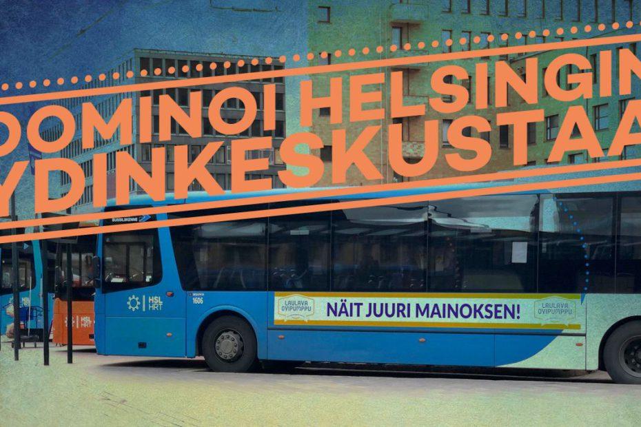 Bussimainonta Helsinki Elielinaukio | Ulkomainosyhtiö Laulava Ovipumppu