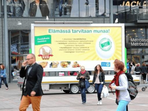 Liikkuva ulkomainos - Guerilla Billboard | Ulkomainosyhtiö Laulava Ovipumppu