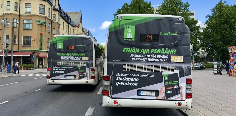 Bussimainonta - Kokoperä mainospaikka | Laulava Ovipumppu
